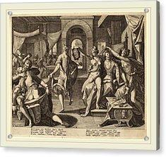 Raphael Sadeler I After Joos Van Winghe Flemish Acrylic Print by Litz Collection