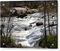 Rapid Waters At Hurricane Shoals Acrylic Print by Eva Thomas