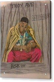 Rapper Troy Ave Acrylic Print