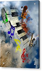 Rapture Celebration Acrylic Print by Davina Washington