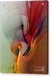 Rapture Of The Deep-abstract Art Acrylic Print by Karin Kuhlmann