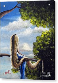 Rapunzel Original Artwork From My Acrylic Painting Acrylic Print