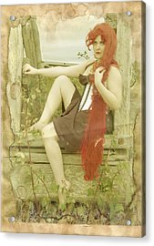 Rapunzel I Can Save Myself Acrylic Print by Eating Strawberries
