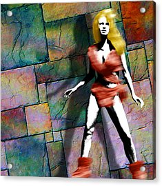 Raquel Welch Cave Woman In One Million Years Bc Acrylic Print
