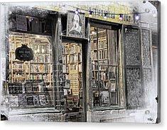 Rare Books Latin Quarter Paris France Acrylic Print