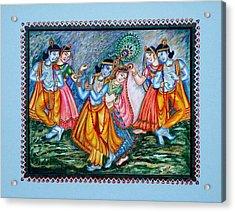Acrylic Print featuring the painting Ras Leela by Harsh Malik