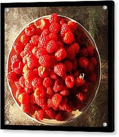 Raspberries Acrylic Print by Izabela Bienko