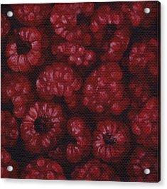 Acrylic Print featuring the painting Raspberries by Natasha Denger
