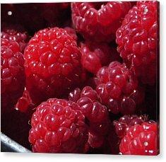 Raspberry Crave Acrylic Print by Elena Hasnas
