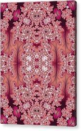 Acrylic Print featuring the digital art Raspberry Dreams by Lea Wiggins
