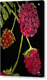 Acrylic Print featuring the painting Raspberry Fabric by Paula Ayers