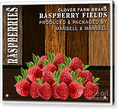 Raspberry Fields Forever Acrylic Print by Marvin Blaine