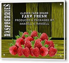 Raspberry Fields Acrylic Print by Marvin Blaine