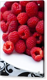 Raspberry Red Acrylic Print by Anne Gilbert