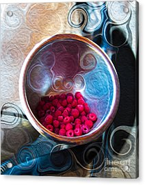 Raspberry Reflections Acrylic Print