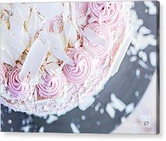 Raspberry White Chocolate Cake Acrylic Print