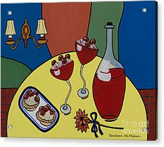 Acrylic Print featuring the painting Raspberry Wine by Barbara McMahon