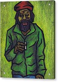 Rastafarian Acrylic Print by Kamil Swiatek
