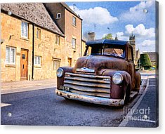 Rat Chevy 3100 Pickup Acrylic Print by Tim Gainey