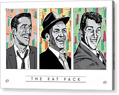 Rat Pack Pop Art Acrylic Print