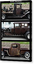 Rat Rods Poster Acrylic Print by Steven Parker