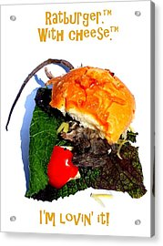 Ratburger With Cheese Acrylic Print