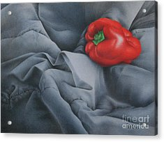 Acrylic Print featuring the painting Rather Red by Pamela Clements