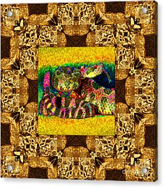 Rattlesnake Abstract Window 20130204p0 Acrylic Print by Wingsdomain Art and Photography