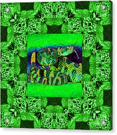 Rattlesnake Abstract Window 20130204p75 Acrylic Print by Wingsdomain Art and Photography
