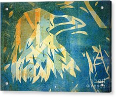 Raven Blue Acrylic Print by Cynthia Lagoudakis
