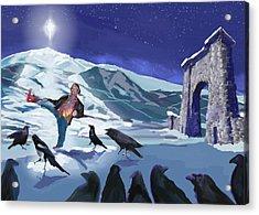 Raven Dance Acrylic Print
