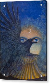 Raven Heart Acrylic Print