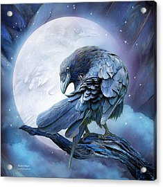 Raven Moon Acrylic Print