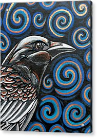 Acrylic Print featuring the painting Raven by Sarah Crumpler