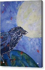 Raven Speak Acrylic Print