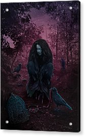 Raven Spirit Acrylic Print by Cassiopeia Art