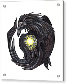 Raven Steals The Sun Acrylic Print