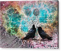 Raven Whispers In The Nowhere Acrylic Print