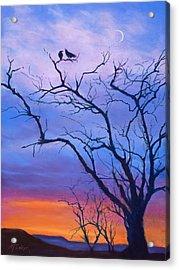 Raven's Chat Acrylic Print