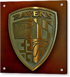 Ravens Coat Of Arms Acrylic Print by Robert Geary