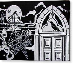 Ravens' Mask Acrylic Print by Jan Wendt