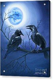 Raven's Moon Acrylic Print