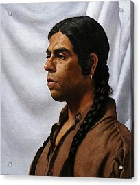 Raven's Portrait Acrylic Print by Deborah Allison