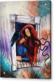 Raven's Wish Acrylic Print by Laura Barbosa