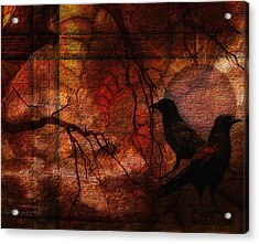 Ravens World Edited Acrylic Print