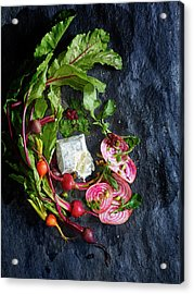 Raw Beeet Salad Ingredients Acrylic Print