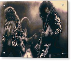 Raw Energy Of Led Zeppelin Acrylic Print by Daniel Hagerman