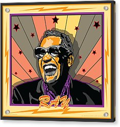 Ray Charles Acrylic Print by Larry Butterworth