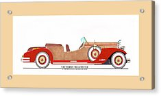 Ray Dietrich Packard Victoria Roadster Concept Design Acrylic Print by Jack Pumphrey