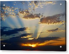 Rays At Sunset Acrylic Print by Dorothy Berry-Lound